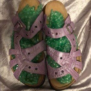 Birkenstock Betula Purple Leather Sandal, Size 10